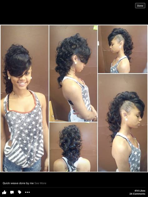 Best Of Curly Mohawk Quick Weave Hairstyle 2021