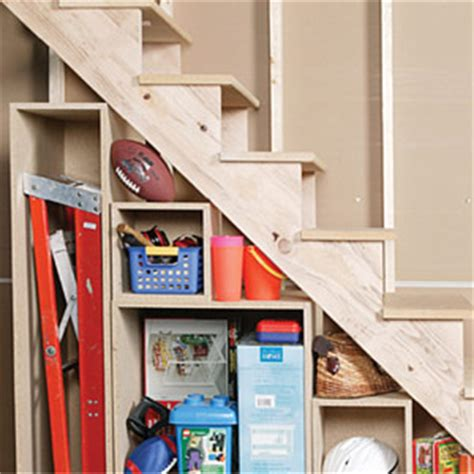 How to Build Under-stair Basement Storage Shelves - Adding