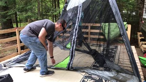 Ozark Trail 10X10 Screen House Product Review - Fail - YouTube