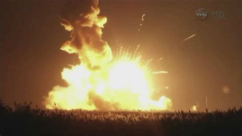Commercial space station supply ship rocket explodes after