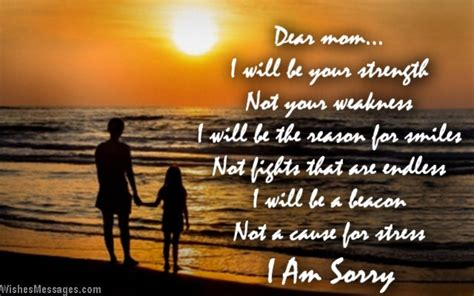 I am sorry messages for mom – WishesMessages
