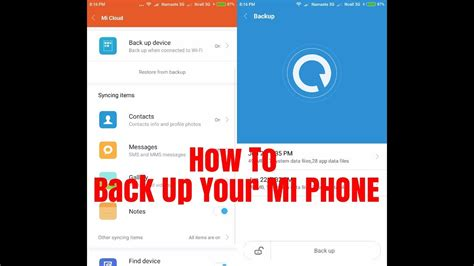 How to Backup your MI Phone (Local and Cloud Backup