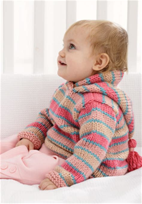 Chunky Hoodie Baby Sweater Knitting Pattern | FaveCrafts