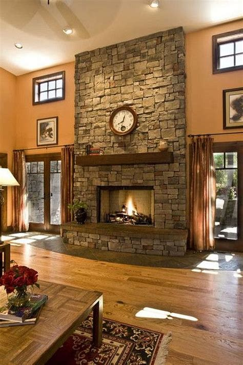 26+ Awesome Traditional Stone Fireplace Decorating Ideas