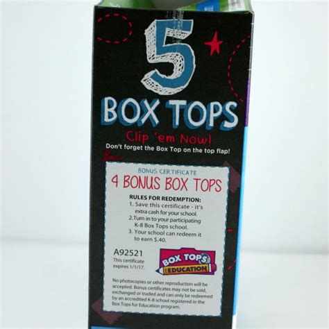Box Tops for Education   Inspiration Laboratories