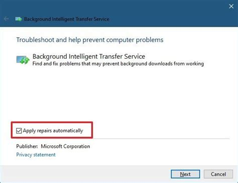 How to fix Background Intelligent Transfer Service (BITS
