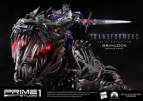 Grimlock & Optimus Prime Statues from Transformers: Age of