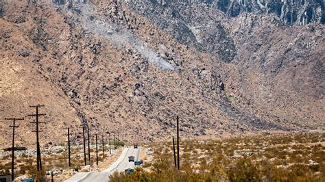 Palm Springs fire on Tramway Road contained after burning
