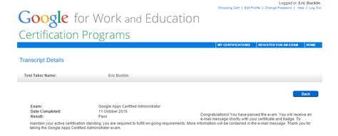 Google Apps Admin Certification Training and Thoughts