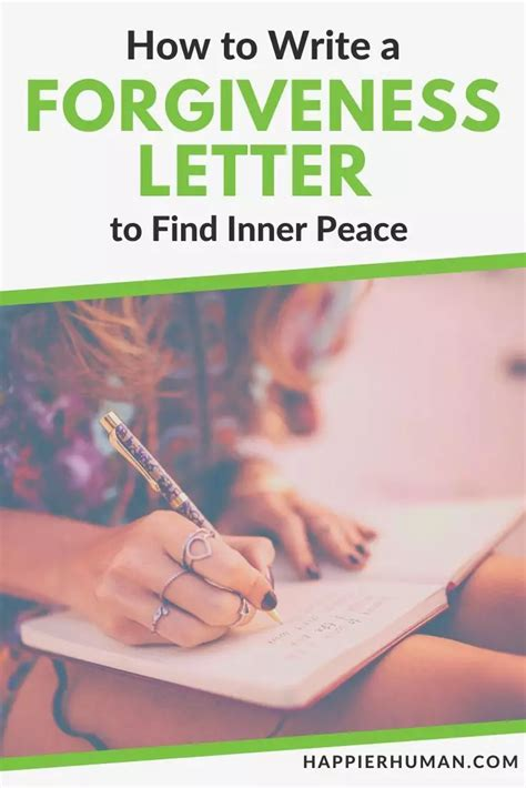 How to write a forgiveness letter to help you find inner