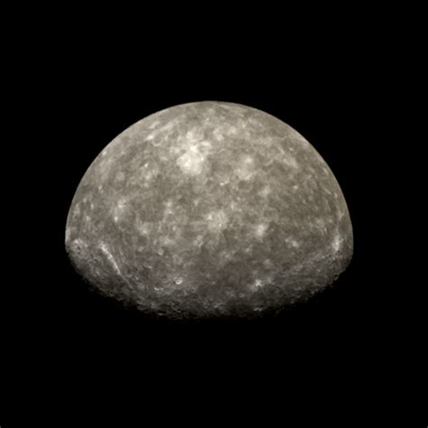 Mariner 10 view of Mercury's south pole from flyby 2 | The
