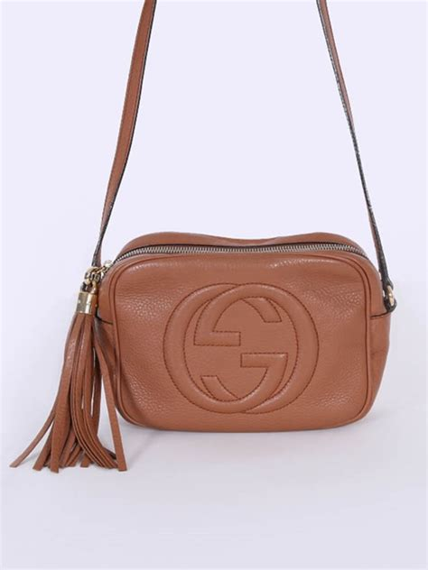 Gucci - Soho Leather Disco Bag Brown   Luxury Bags