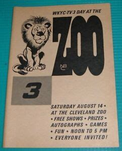 1965 WKYC TV AD~CLEVELAND ZOO~SATURDAY AUGUST 14