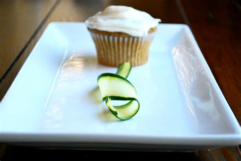 Sweet Zucchini Cupcakes with Cream Cheese Frosting • A