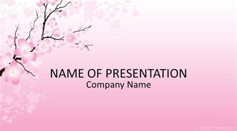 Cherry Blossom PowerPoint Template - Templateswise