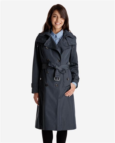 Lara Trench Coat with Detachable Quilted Liner & Hood