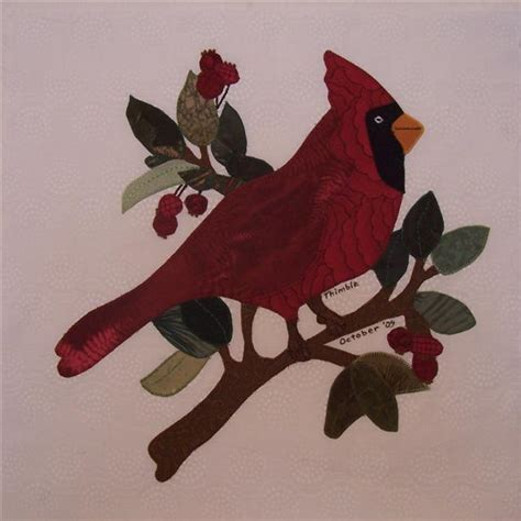 quilt pattern with cardinal birds?