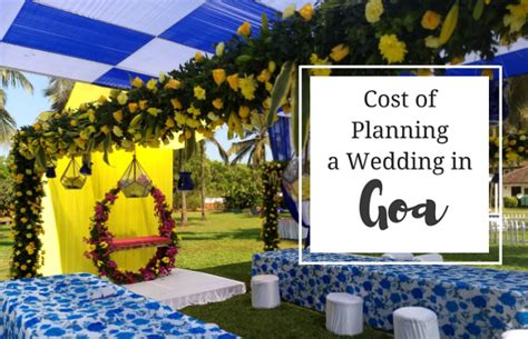 Cost of Planning a Destination Wedding in Goa