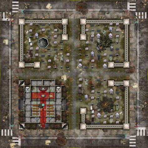 Zombie Themed Battle maps for tabletop RPG's - Zombie Squad