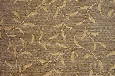 Brewster Faux Brown and Gold Leaf Scroll Textured